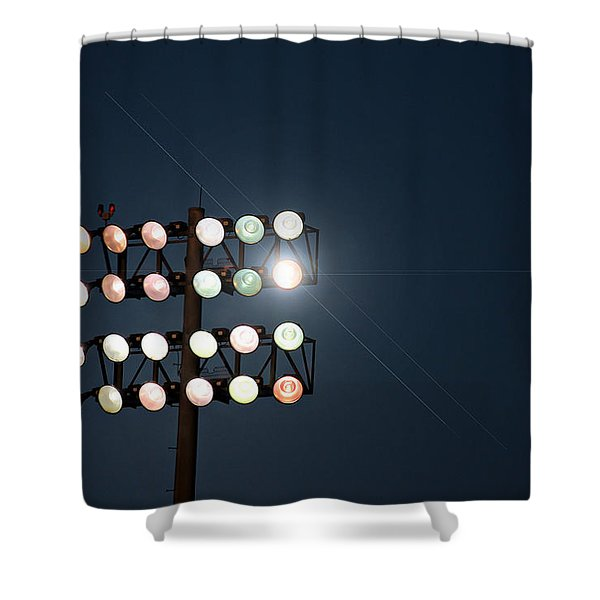 Beneath Friday Night Lights Shower Curtain