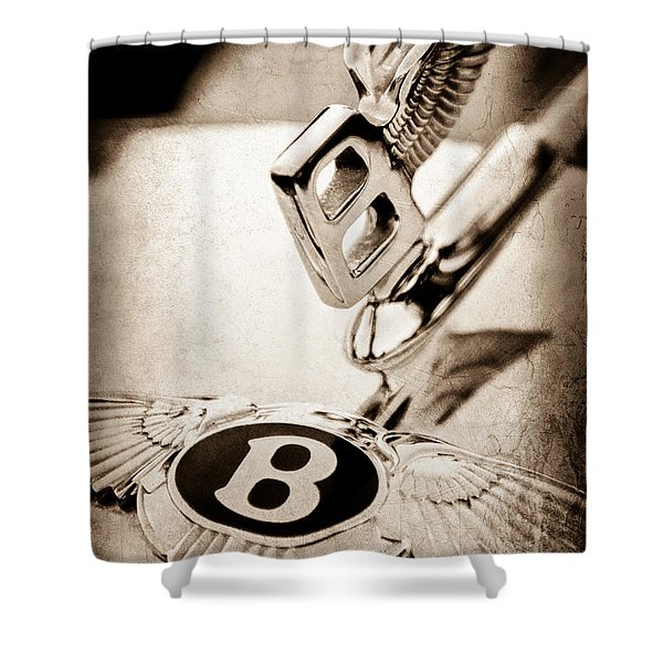 Bentley Hood Ornament - Emblem Shower Curtain