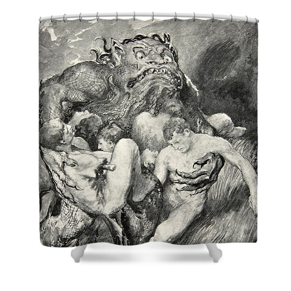 Beowulf Print Shower Curtain