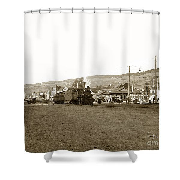 Berkeley California Train Station Circa 1902 Shower Curtain