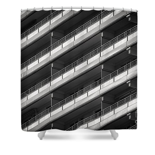 Berlin Balconies Shower Curtain