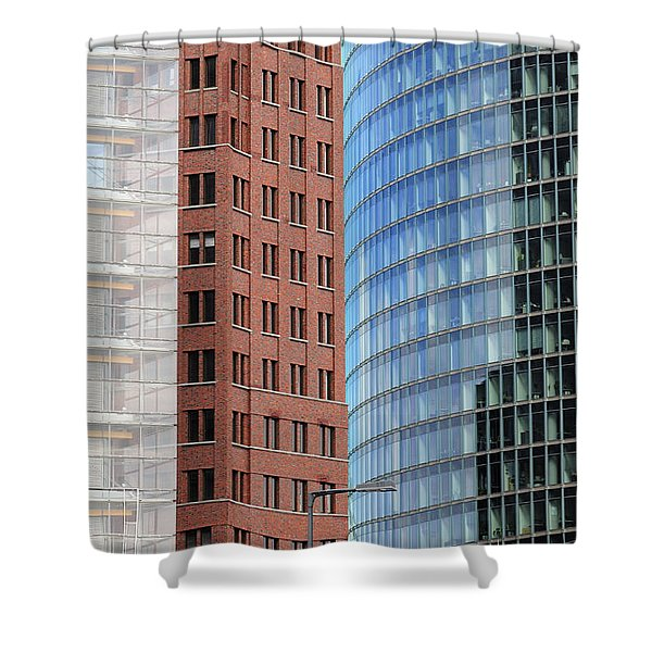Berlin Buildings Detail Shower Curtain