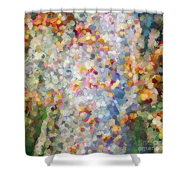 Berries Around The Tree - Abstract Art Shower Curtain