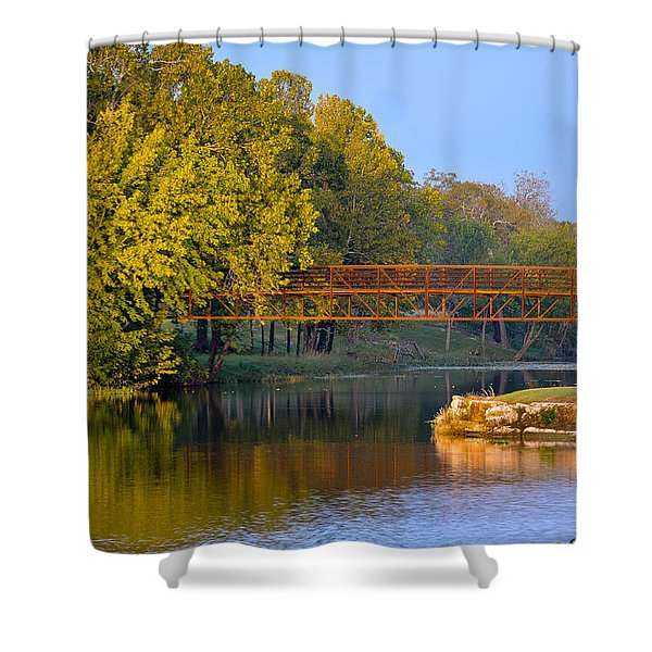 Berry Creek Bridge Shower Curtain