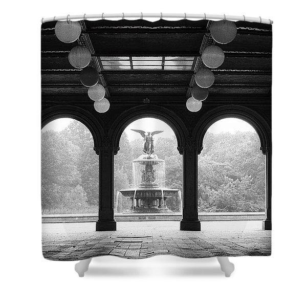 Bethesda Terrace  1990s Shower Curtain