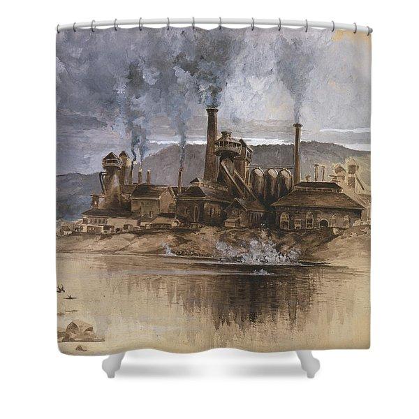 Bethlehem Steel Corporation Circa 1881 Shower Curtain