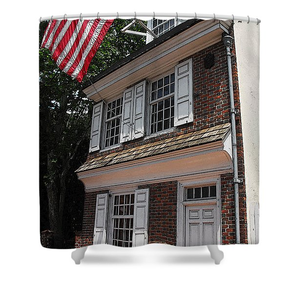 Betsy Ross House Shower Curtain