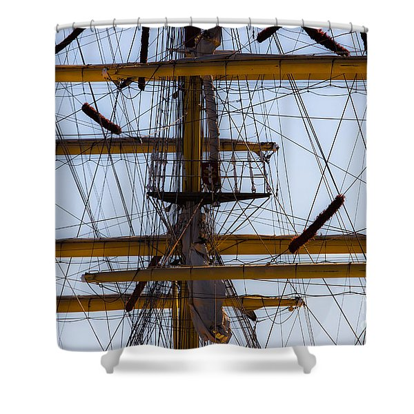 Between Masts And Ropes Shower Curtain