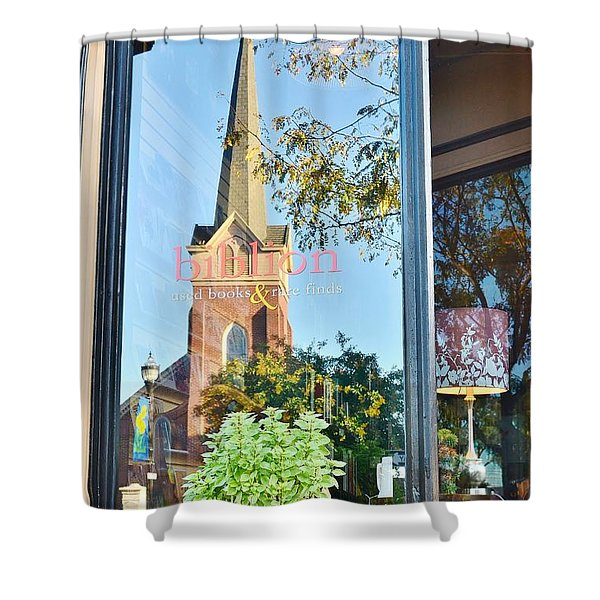 Biblion Used Books Reflections 3 - Lewes Delaware Shower Curtain