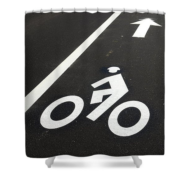 Bicycle Lane Shower Curtain