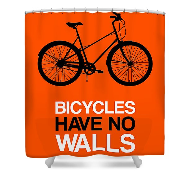 Bicycles Have No Walls Poster 1 Shower Curtain