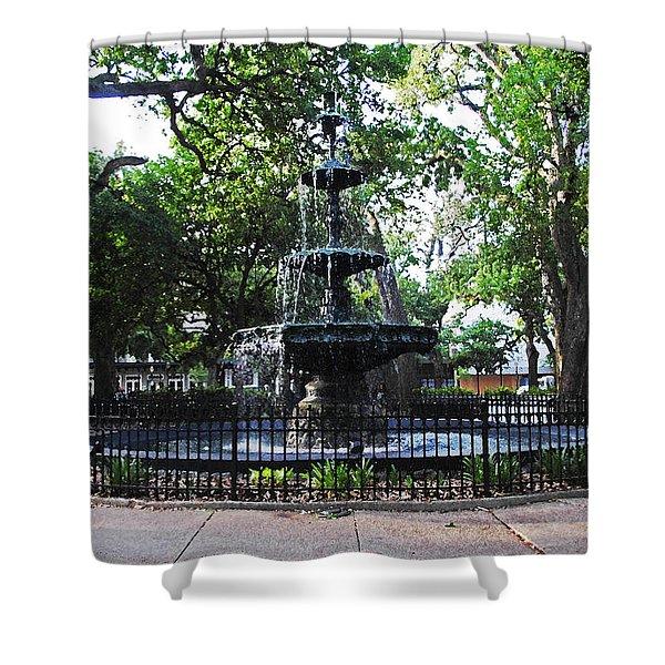Bienville Fountain Mobile Alabama Shower Curtain