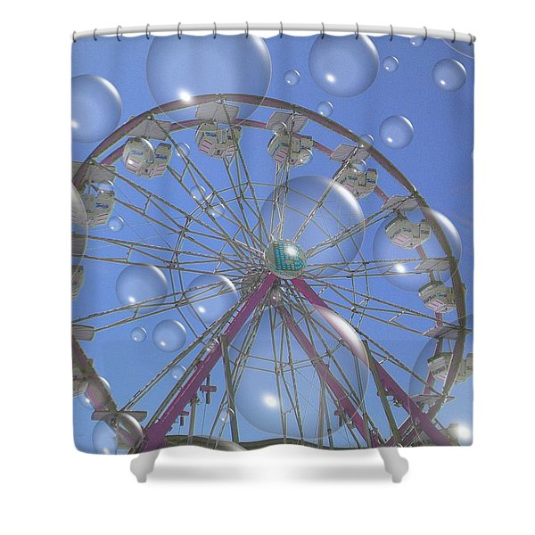 Big B Bubble Ferris Wheel Shower Curtain