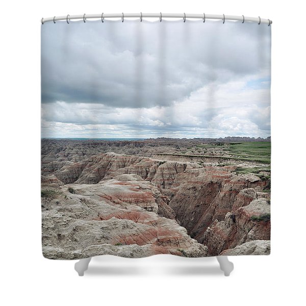Big Badlands Overlook Shower Curtain