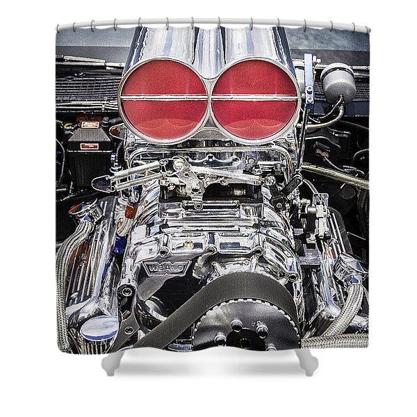 Big Big Block V8 Motor Shower Curtain