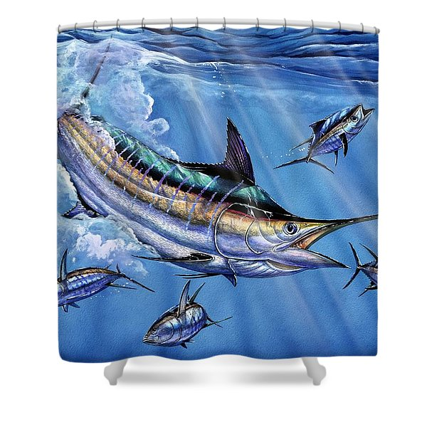 Big Blue And Tuna Shower Curtain