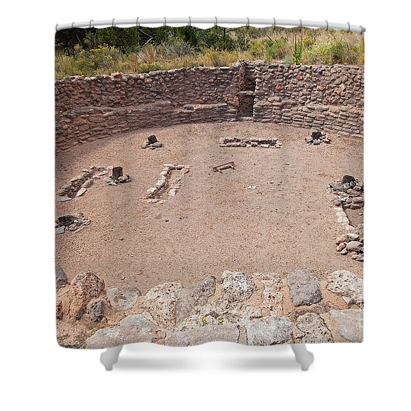 Big Kiva Bandelier National Monument Shower Curtain