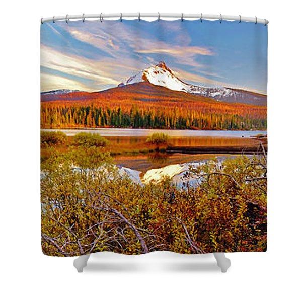 Big Lake And Mt Washington Oregon Shower Curtain