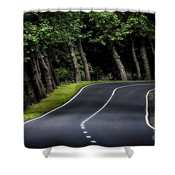 Big  Road Shower Curtain
