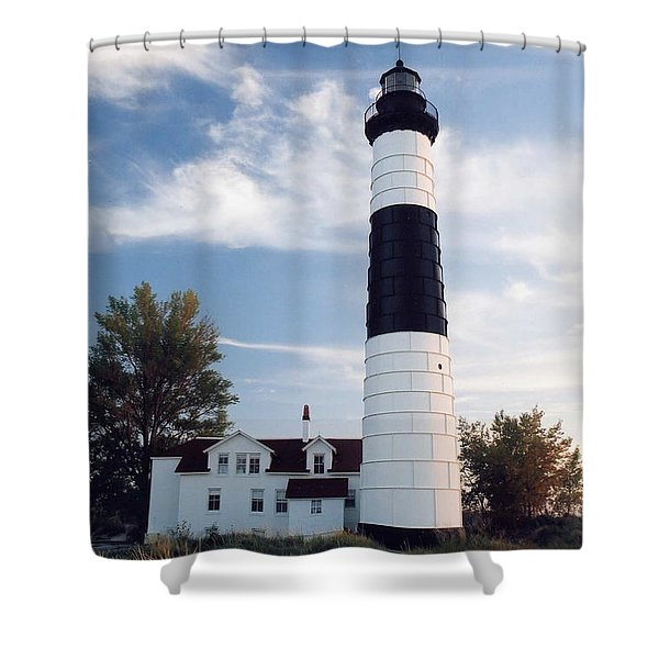 Big Sable Lighthouse Shower Curtain