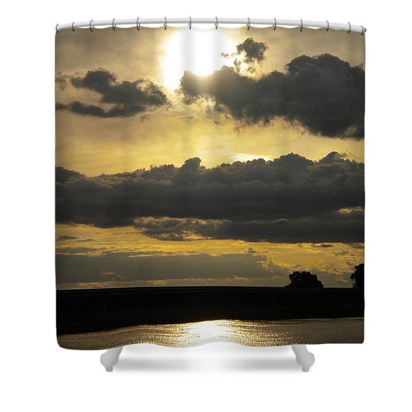 Big Sun Sunset Shower Curtain