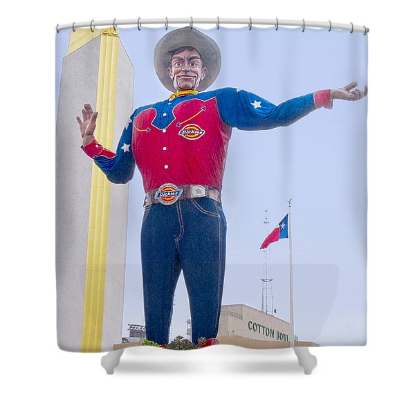 Big Tex And The Cotton Bowl  Shower Curtain