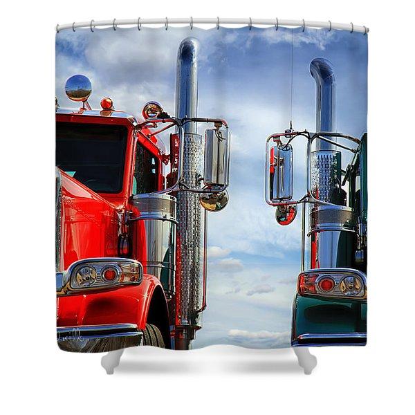 Big Trucks Shower Curtain
