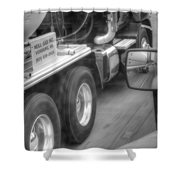 Big Wheels Keep Turning  Shower Curtain