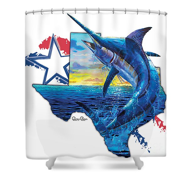 Bigger In Texas Shower Curtain