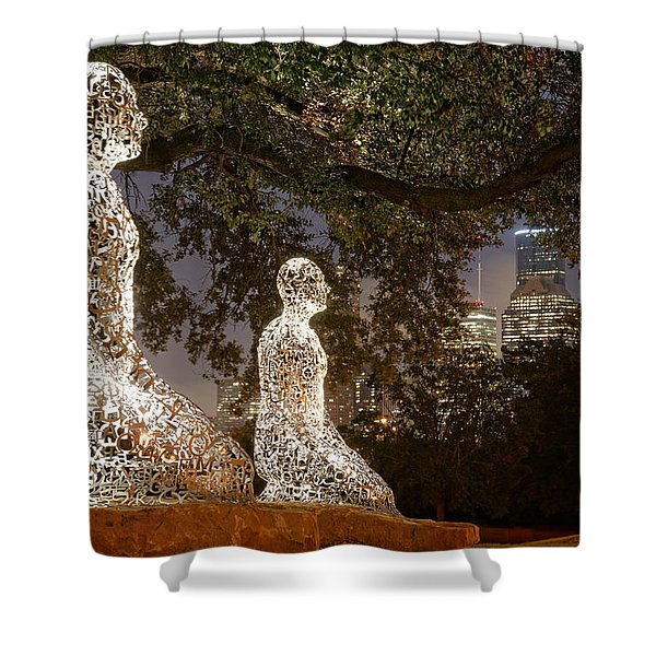 Bigger Than The Sum Of Our Parts - Tolerance Sculptures Downtown Houston Texas Shower Curtain