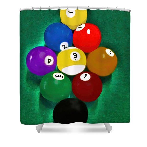 Billiards Art - Your Break 1 Shower Curtain
