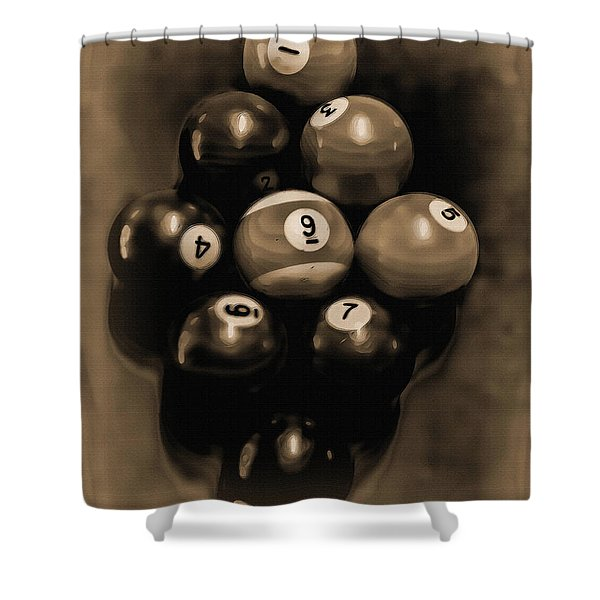 Billiards Art - Your Break - Bw Opal Shower Curtain