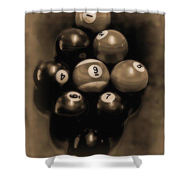 Billiards Art - Your Break - Bw Opal Shower Curtain