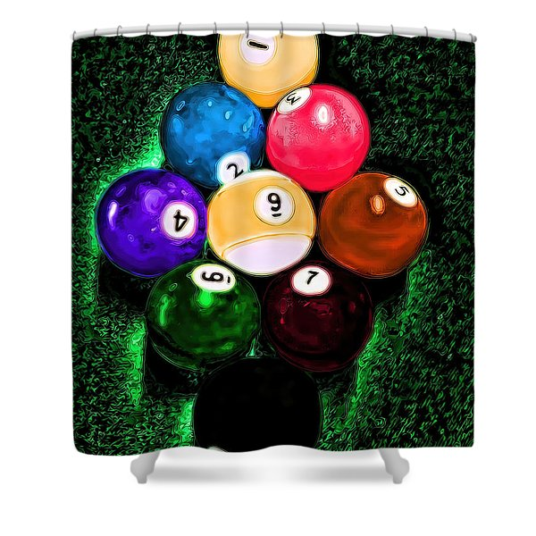 Billiards Art - Your Break Shower Curtain