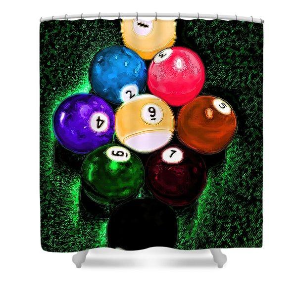 Billiards Art - Your Break Shower Curtain
