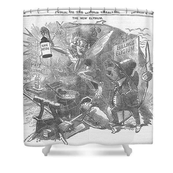 Billings Elysium Editorial Art Shower Curtain