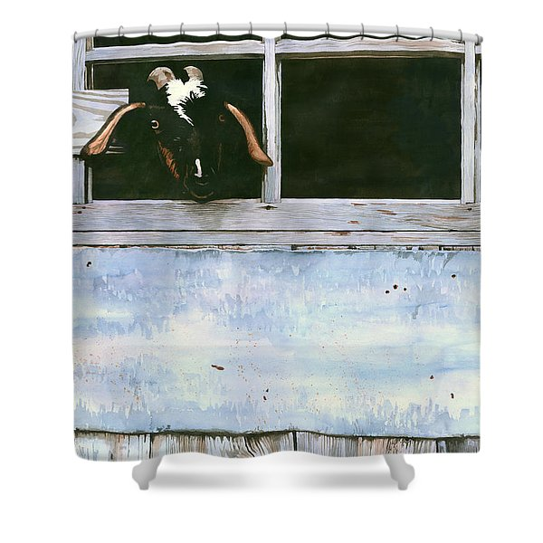 Bill's Goat Shower Curtain