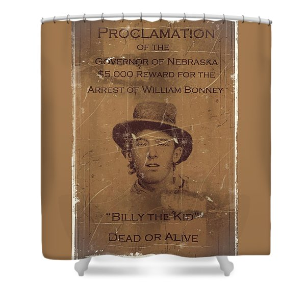 Billy The Kid Wanted Poster Shower Curtain