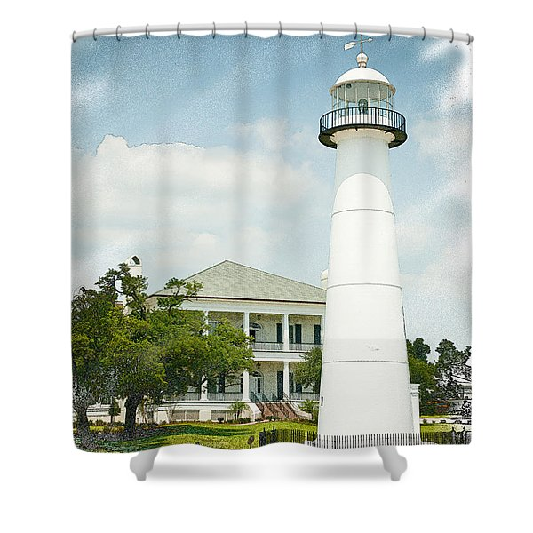 Biloxi Lighthouse Shower Curtains Fine Art America
