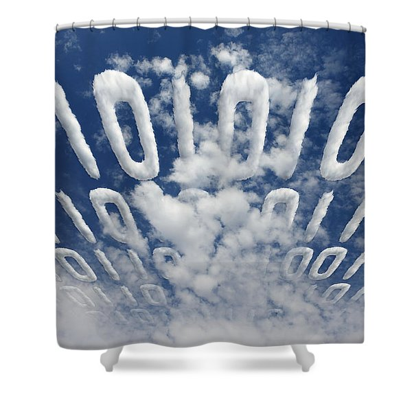 Electronic Information Data Transfer Shower Curtain