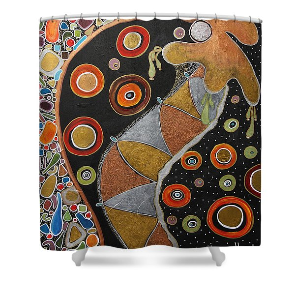 Biological Rhythms.. Shower Curtain