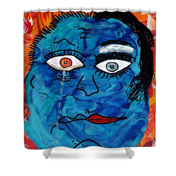 Bipolar Blues Shower Curtain