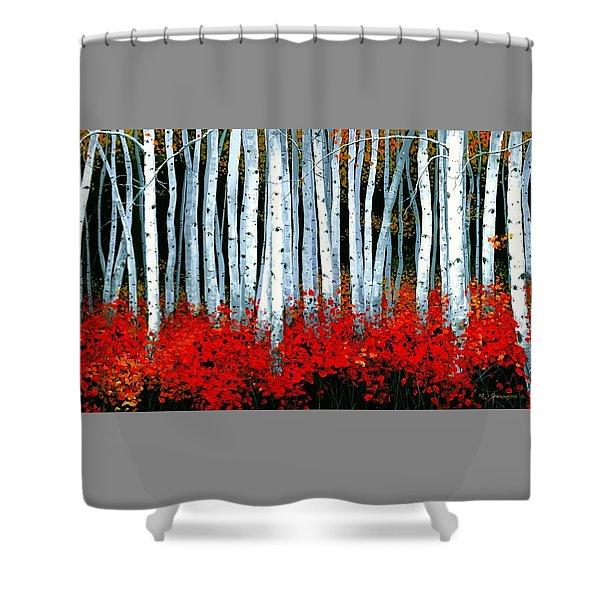 Birch 24 X 48  Shower Curtain