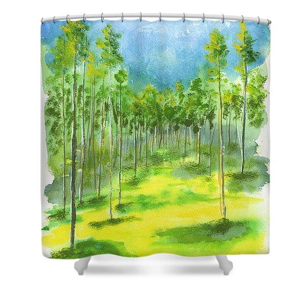 Birch Glen Shower Curtain