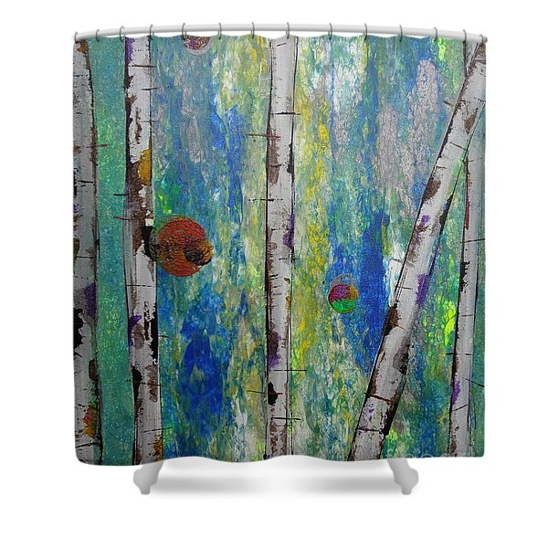 Birch - Lt. Green 4 Shower Curtain