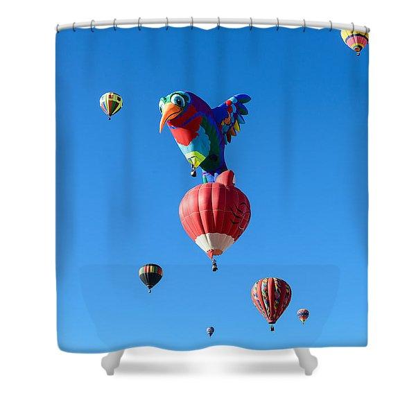 Bird Balloon Shower Curtain
