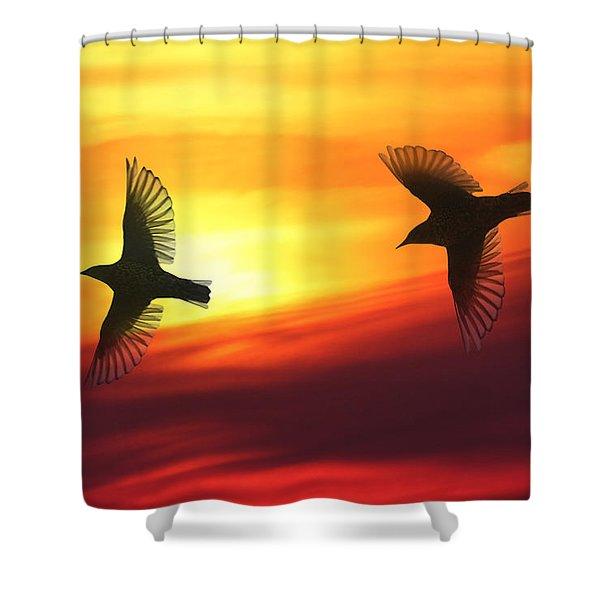 Bird Lovers Shower Curtain