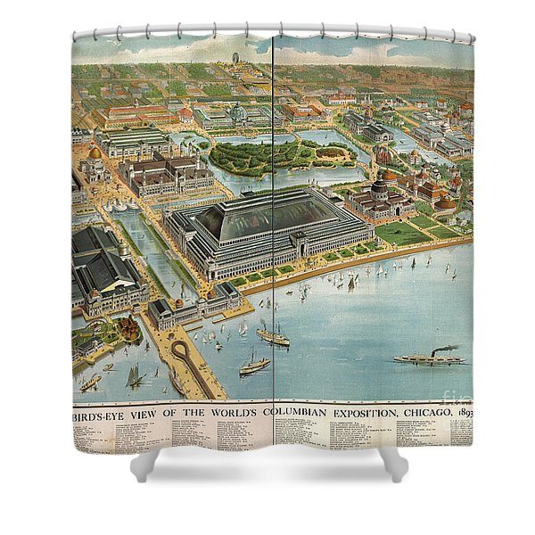 Bird's Eye View Of The World's Columbian Exposition Chicago 1893 Shower Curtain