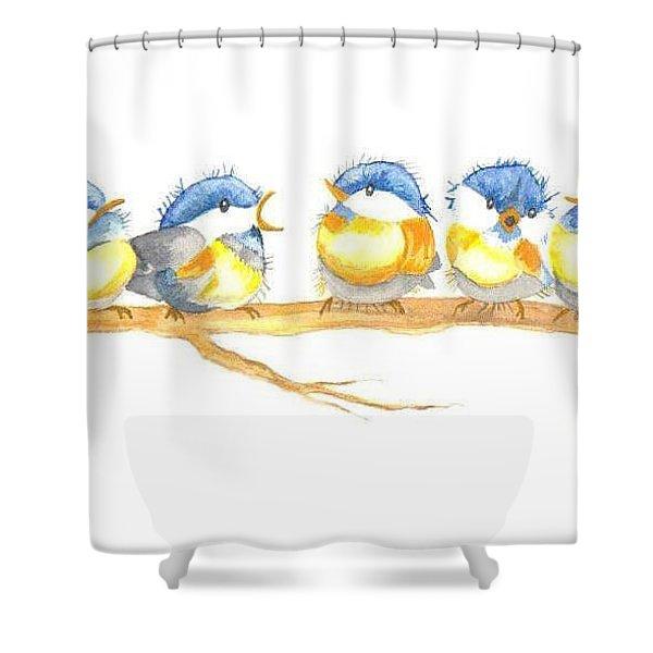 Birds On A Branch Shower Curtain