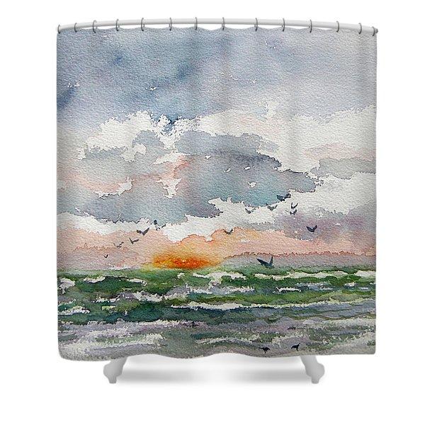 Birds Rising IIi Shower Curtain